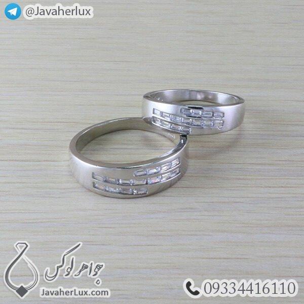 ست حلقه نقره مدل برفین_ کد : 100355