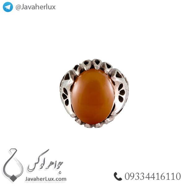 انگشتر نقره مردانه عقیق یمنی مدل اراد _ کد : 100371
