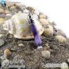 گردنبند سنگ آمتیست مدل منشور _ کد : 400220