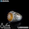انگشتر نقره مردانه یاقوت زرد مدل ایریک _ کد : 100408