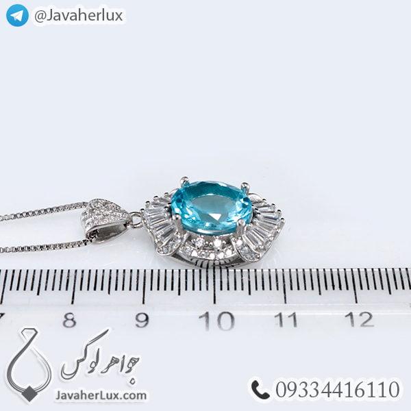 گردنبند نقره زنانه توپاز _ کد : 100416