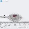 گردنبند نقره زنانه یاقوت سرخ مدل بارشین _ کد : 100418