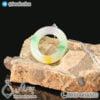 گردنبند سنگ جید رنگین کمانی _ کد : 400263