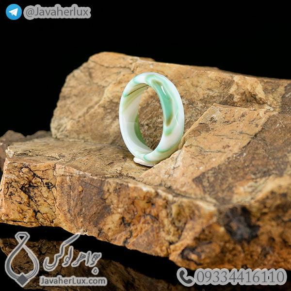 حلقه سنگ عقیق سلیمانی مدل بهپور _ کد : 400269