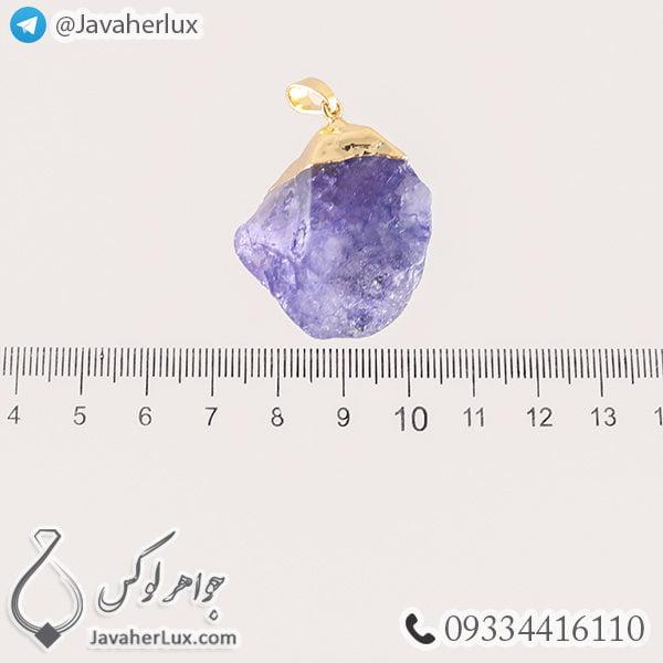 گردنبند سنگ آمتیست _ کد : 400287