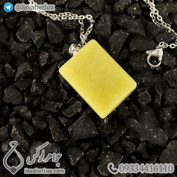 گردنبند سنگ یشم شاه مقصود اصل _ کد : 400719 - جواهر لوکس - javaherlux.com