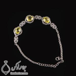 دستبند نقره زنانه مدل پارسوا _ کد : 100434