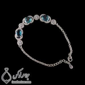 دستبند نقره زنانه مدل پارسیا _ کد : 100435