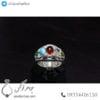 انگشتر نقره زنانه چند جواهر _ کد : 100447