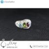 انگشتر نقره زنانه چند جواهر پیران _ کد : 100450