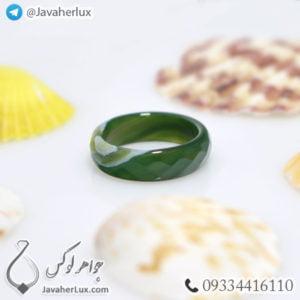 حلقه سنگ عقیق سلیمانی مدل تابال _ کد : 400328