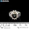 رکاب انگشتر نقره مدل چیلان _ کد : 100457
