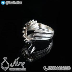 رکاب انگشتر نقره مردانه مدل چنگش _ کد : 100458