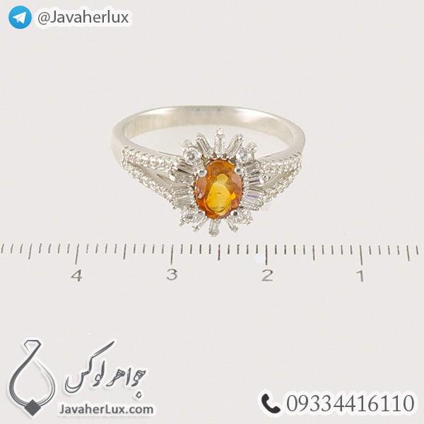 انگشتر نقره زنانه سیترین _ کد : 100460