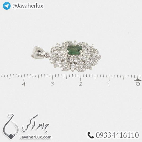 گردنبند نقره زنانه زمرد _ کد : 100461