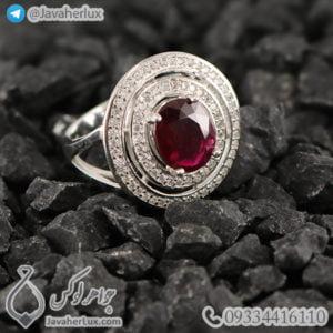 انگشتر یاقوت سرخ زنانه _ کد : 100469
