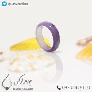 حلقه سنگ عقیق سلیمانی مدل جویان _ کد : 400353