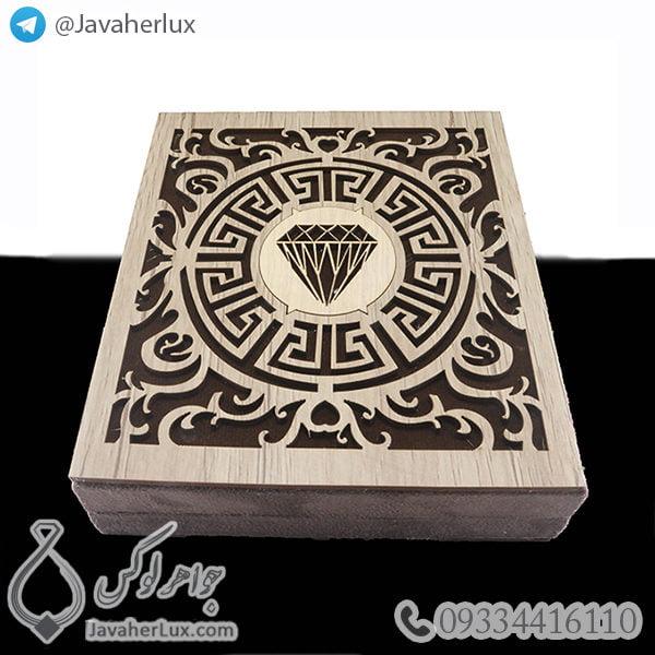 جعبه جواهر نیم ست چوبی _ کد : 700003