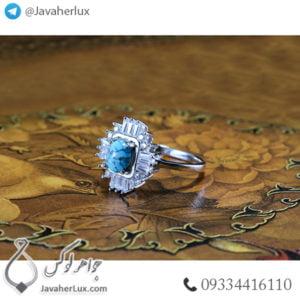 انگشتر نقره زنانه فیروزه نیشابوری مدل داشاب _ کد : 100490