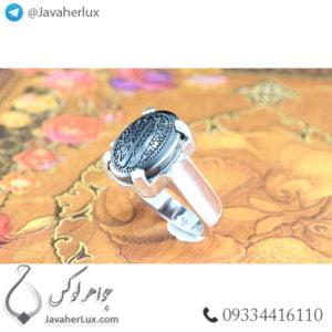 انگشتر نقره مردانه حدید صینی _ کد : 100480