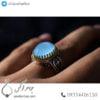 انگشتر نقره مردانه عقیق یاسی _ کد : 100484