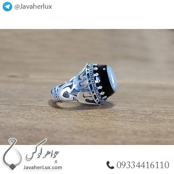 انگشتر نقره مردانه سه پوسته _ کد : 100489