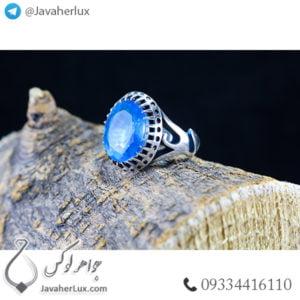 انگشتر نقره مردانه کوارتز رنگی _ کد : 100491