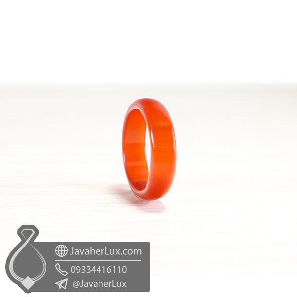 حلقه سنگ عقیق قرمز _ کد : 400388