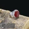 انگشتر نقره مردانه عقیق قرمز مدل رکسار _ کد : 100509