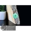 گردنبند سنگ کوارتز سبز مدل روماک _ کد : 400402