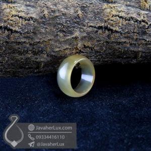 حلقه سنگ عقیق سبز مدل رزمان _ کد : 400393