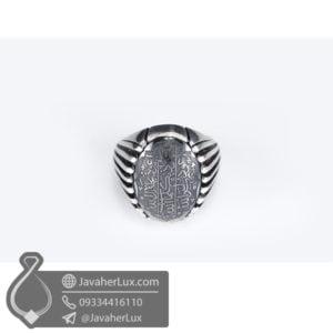 انگشتر نقره مردانه حدید هفت جلاله _ کد : 100507