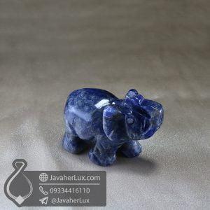 مجسمه فیل سنگ لاجورد _ کد : 400418