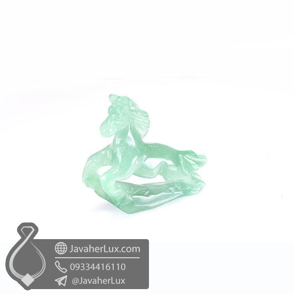 مجسمه اسب سنگ آونتورین سبز _ کد : 400432