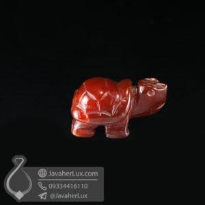 مجسمه تراش لاک پشت سنگ عقیق قرمز _ کد : 400438