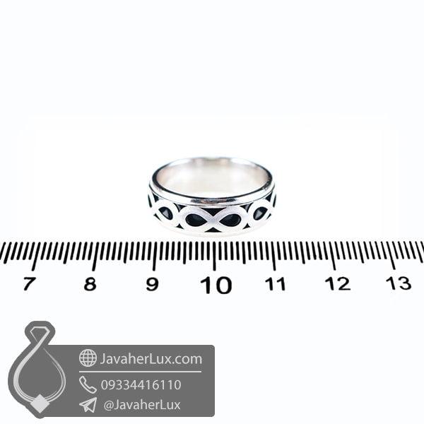 حلقه نقره مدل زائان _ کد : 100521