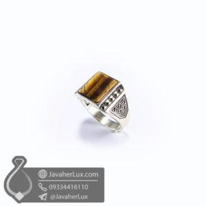 انگشتر نقره مردانه چشم ببر _ کد : 100524