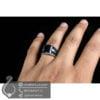 انگشتر نقره مردانه عقیق سیاه مدل زادمن _ کد : 100525