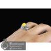 انگشتر نقره مردانه شرف الشمس مدل زراسپ _ کد : 100529