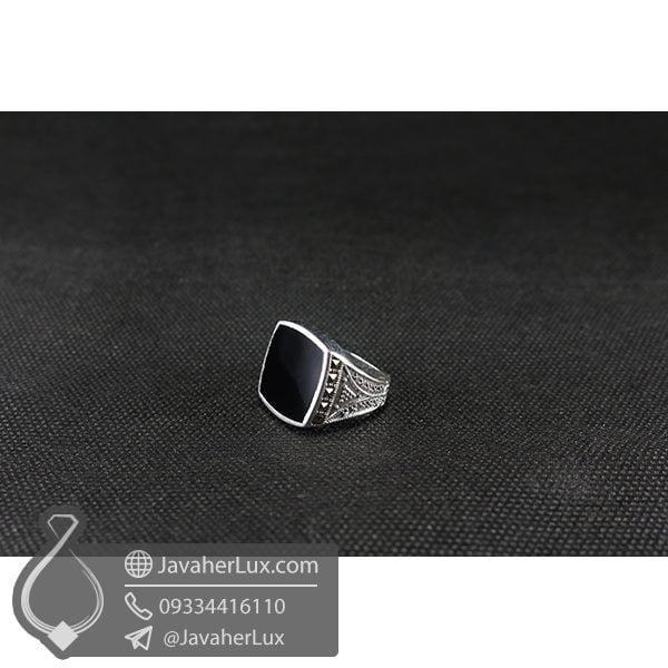 انگشتر اسپرت عقیق سیاه _ کد : 100534