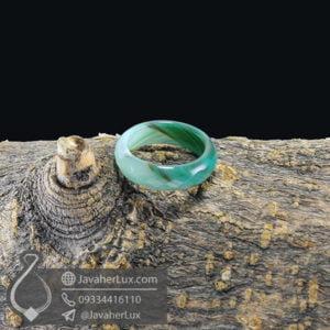 حلقه سنگ عقیق سلیمانی مدل روهان _ کد : 400408