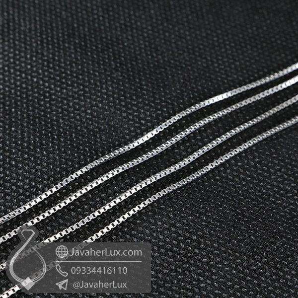 زنجیر نقره ونیزی 60 سانتیمتری _ کد : 100532