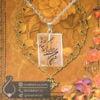 گردنبند کریستال کوارتز حکاکی یا من اسمه دوا و ذکر شفا _ کد : 400449