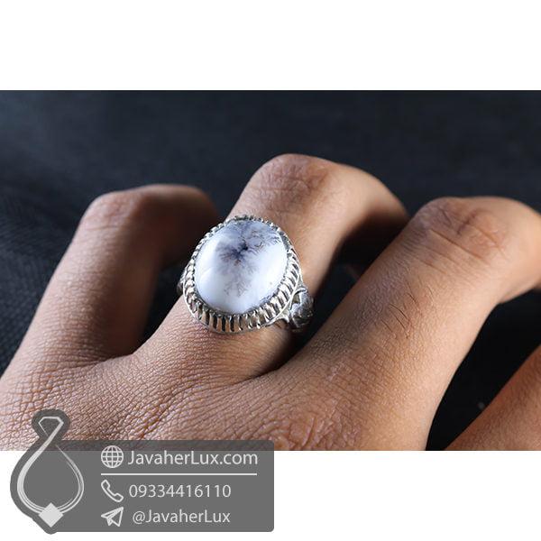 انگشتر عقیق شجر مردانه _ کد : 100547