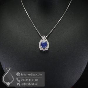 گردنبند زنانه یاقوت کبود _ کد : 100565