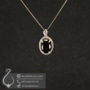 گردنبند نقره زنانه عقیق سیاه _ کد : 100567
