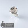 انگشتر نقره مردانه عقیق شجر مدل ژاماسب _ کد : 100562