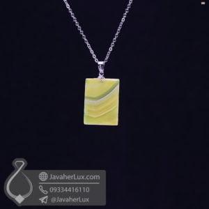 گردنبند عقیق سلیمانی زرد _ کد : 400497