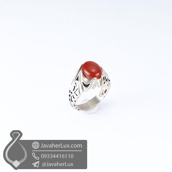 انگشتر نقره مردانه عقیق قرمز _ کد : 100578