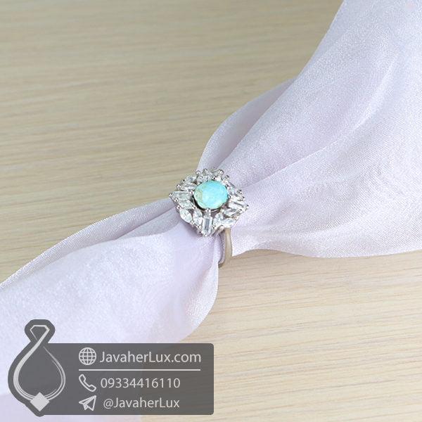 انگشتر زنانه فیروزه نیشابوری مدل دی _ کد : 100579